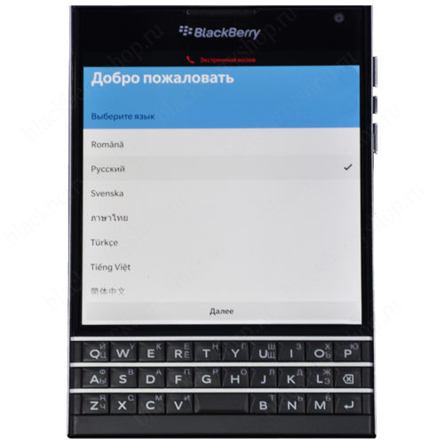 BlackBerry Passport Black 4G LTE