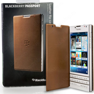Чехол BlackBerry Passport Leather Flip Brown