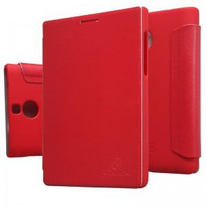 Чехол Nilkin BlackBerry Passport Silver Edition Leather Flip Red