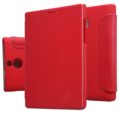Чехол Nilkin BlackBerry Passport Silver Edition Leather Flip Red