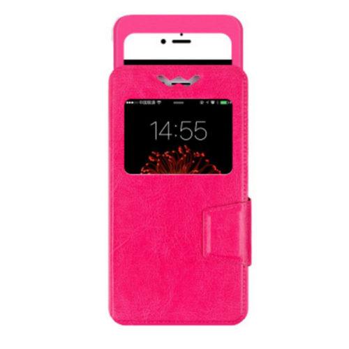 chehol-blackberry-dtek50-slider-flip-case-pink