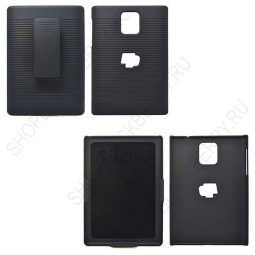 chekhol-BlackBerry-passport-Case-Cover-Swivel-Black-4