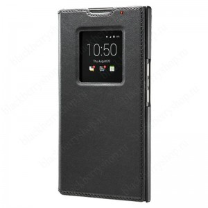 Чехол BlackBerry Priv Leather Smart Flip Case Black