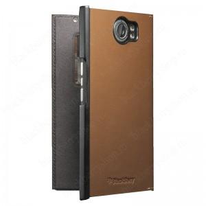 Чехол BlackBerry Priv Leather Smart Flip Case Brown