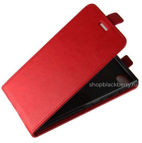 blackberry key2 flip case eco leather red. Black Bedroom Furniture Sets. Home Design Ideas