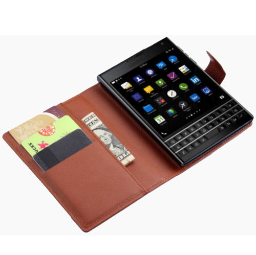 Чехол BlackBerry Passport Leather Flip Case Brown