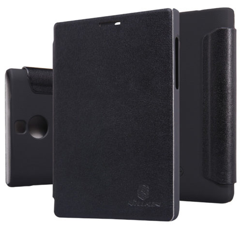 Чехол Nilkin BlackBerry Passport Silver Edition Leather Flip Black