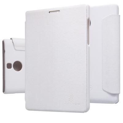 Чехол Nilkin BlackBerry Passport Silver Edition Leather Flip White