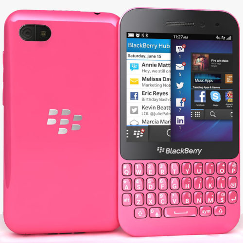 BlackBerry Q5 Pink 4G SQR100-2