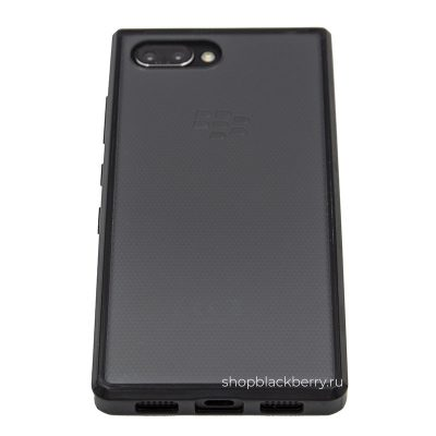 chehol-silicone-hard-shell-for-blackberry-key2-black-clear-1